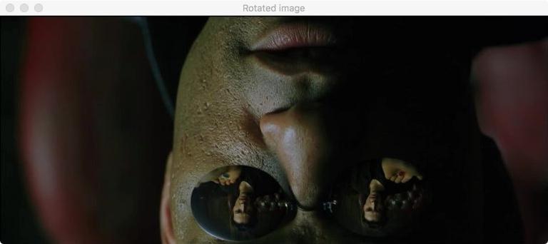 """Повернутое изображение из """"Матрицы"""" на OpenCV"""