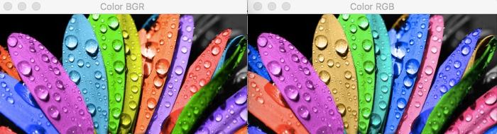 Сравнение BGR и RGB
